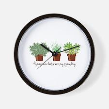Homegrown Herbs Wall Clock