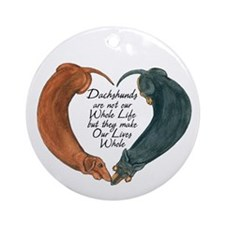 Dachshunds for life Ornament (Round)