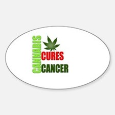 Cannabis Cures Sticker (Oval)