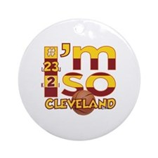 I'm So Cleveland (Hoops Edition) Round Ornament