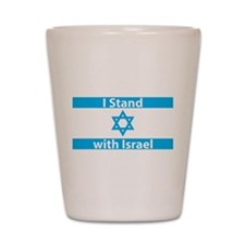 I Stand with Israel - Flag Shot Glass