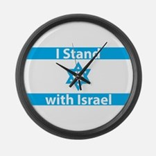 I Stand with Israel - Flag Large Wall Clock