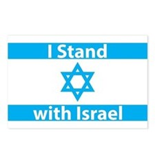 I Stand with Israel - Fla Postcards (Package of 8)