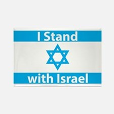 I Stand with Israel - F Rectangle Magnet (10 pack)