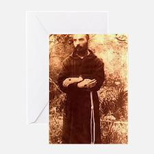 Youg Padre Pio Greeting Card
