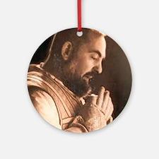 Padre Pio Round Ornament
