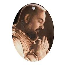 Padre Pio Oval Ornament