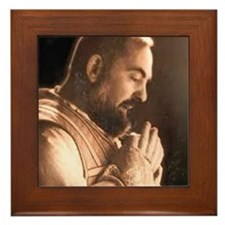 Funny Monk's Framed Tile