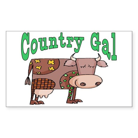 Country Gal Rectangle Sticker