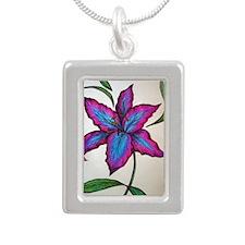 Lily Silver Portrait Necklace