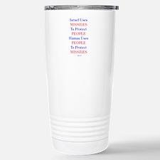 Israel Hamas Missiles Travel Mug