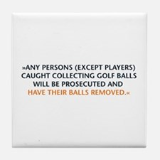 Golf Balls Tile Coaster