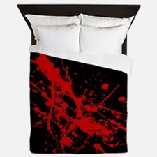 Unique Blood splatter Queen Duvet