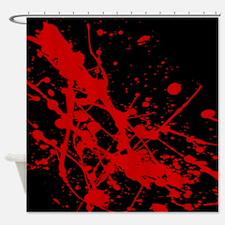 Cute Blood splatter Shower Curtain
