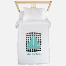 Mint Boat Nautical Twin Duvet