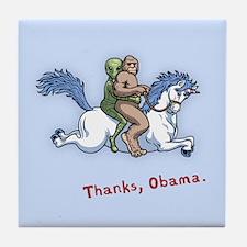 Thanks Obama! Tile Coaster