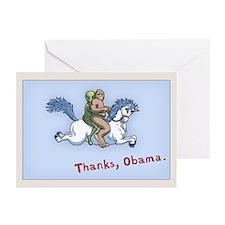 Thanks Obama! Greeting Cards (Pk of 10)