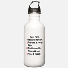 Rules For A Successful Marriage Water Bottle
