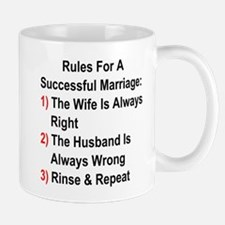 Rules For A Successful Marriage Mugs
