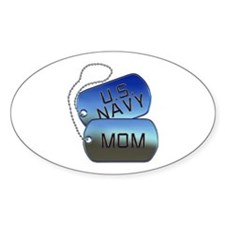 Navy Mom - Mother Dog Tag Decal