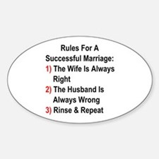 Rules For A Successful Marriage Decal