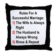 Rules For A Successful Marriage Throw Pillow