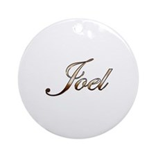 Gold Joel Round Ornament