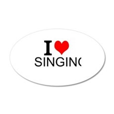 I Love Singing Wall Decal