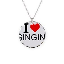 I Love Singing Necklace