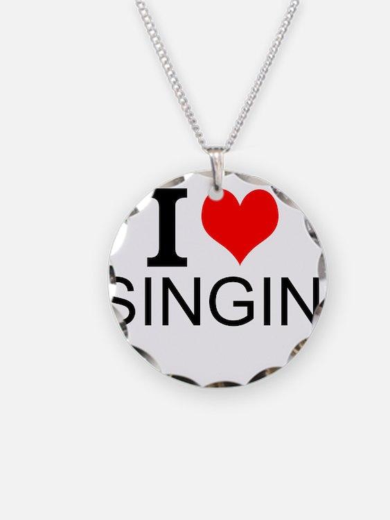 I Love Singing Necklace