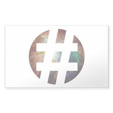 Hastag Space Decal