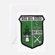 uss w. s. sims de patch Greeting Card