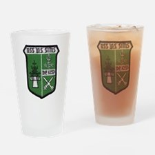 uss w. s. sims de patch Drinking Glass