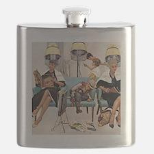 Retro Beauty Salon, Vintage Poster Flask