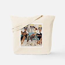 Retro Beauty Salon, Vintage Poster Tote Bag
