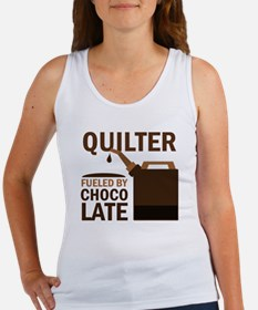 Quilter Fueled by chocolate Women's Tank Top