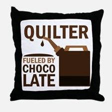 Quilter Fueled by chocolate Throw Pillow