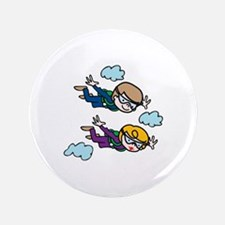 """Skydiving Kids 3.5"""" Button"""