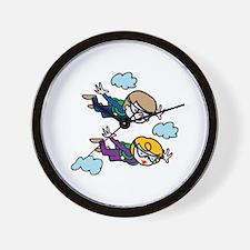 Skydiving Kids Wall Clock
