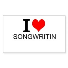 I Love Songwriting Decal