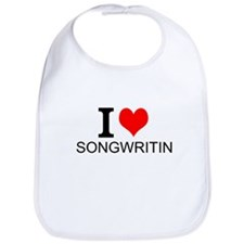 I Love Songwriting Bib