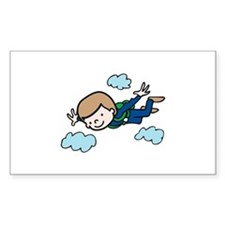Skydiving Boy Decal