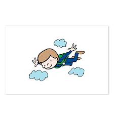 Skydiving Boy Postcards (Package of 8)