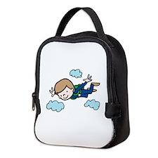 Skydiving Boy Neoprene Lunch Bag