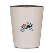 Skydiving Boy Shot Glass