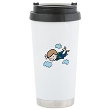 Skydiving Boy Travel Mug