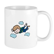 Skydiving Boy Mugs