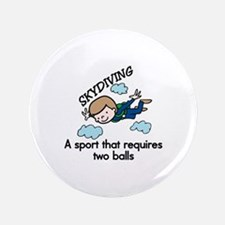 """Skydiving Sport 3.5"""" Button"""
