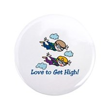 "Skydiving High 3.5"" Button"