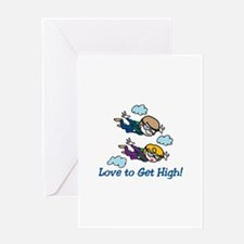 Skydiving High Greeting Cards